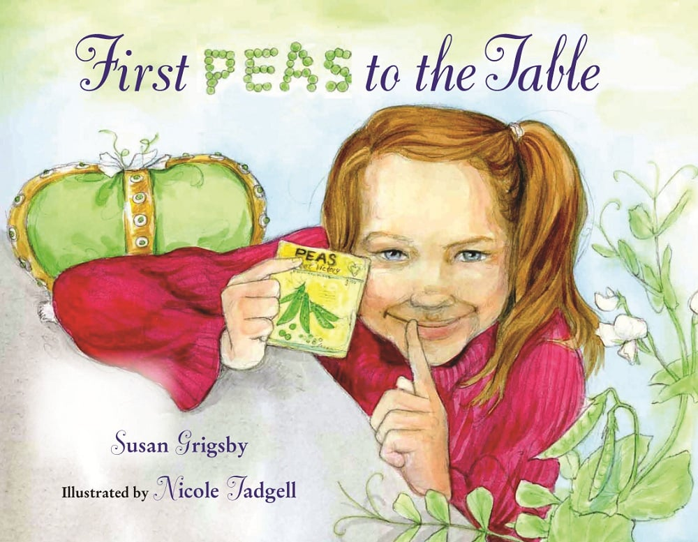 First Peas to the Table Cover