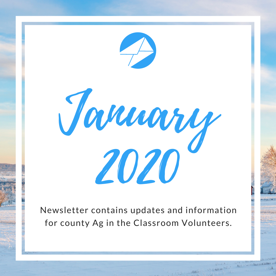 January 2020 Ag in the Classroom newsletters