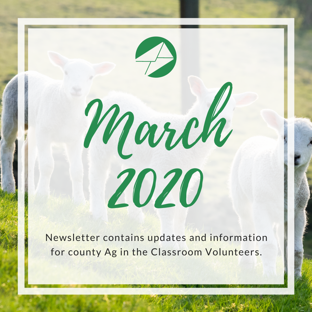 March 2020 Ag in the Classroom newsletters (1)