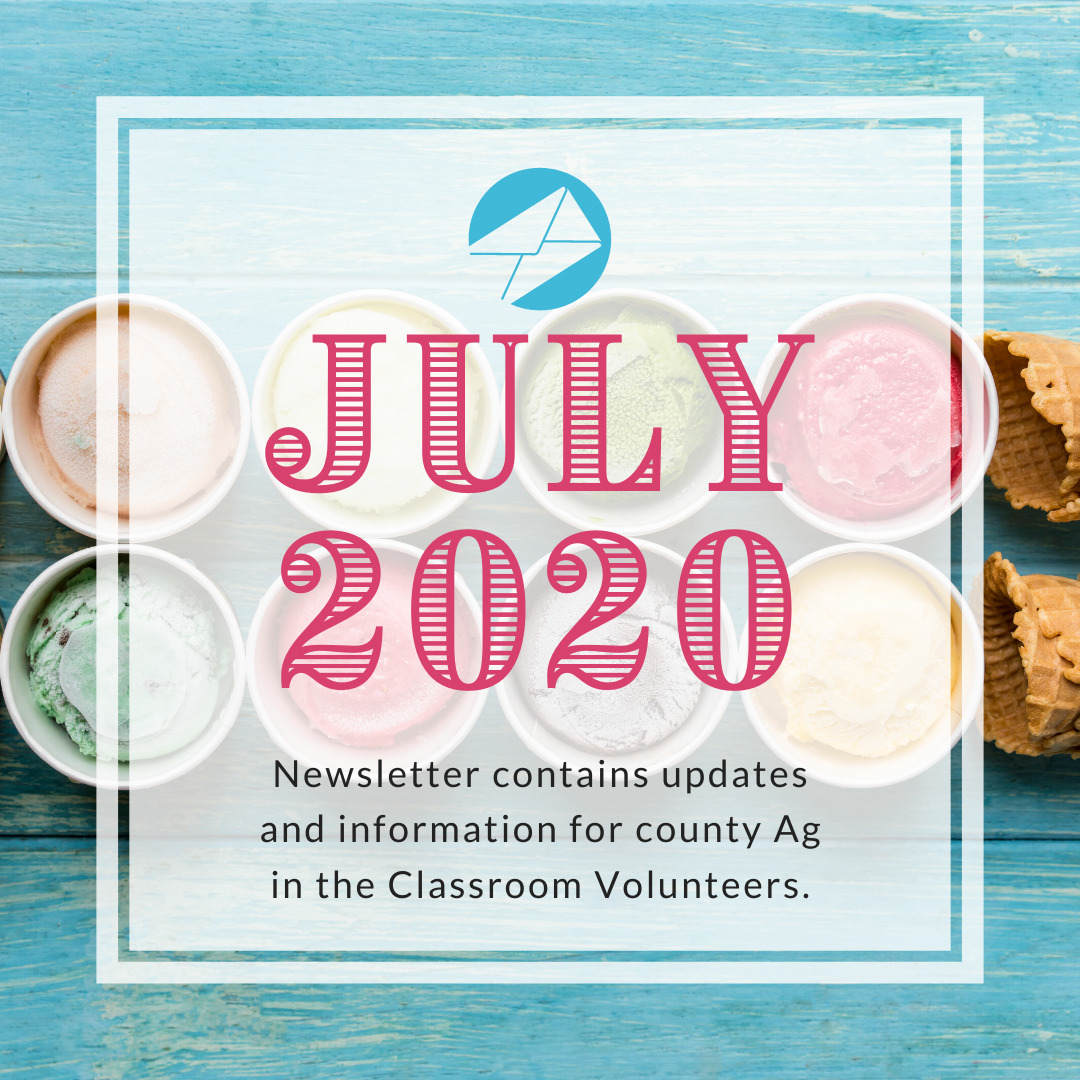 Volunteer July 2020 Ag in the Classroom newsletters