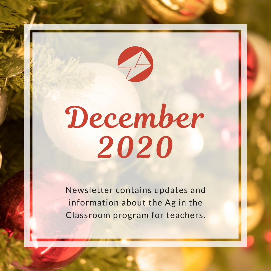 teachers December 2020 Ag in the Classroom newsletters (1)