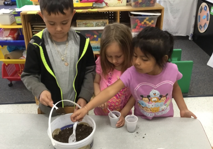 2017-18 Independence - kids planting